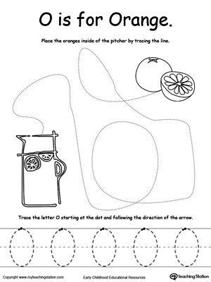 the letter o is for orange pre k and kindergarten printables flashcards etc lettering. Black Bedroom Furniture Sets. Home Design Ideas
