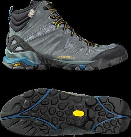 faa43c49 Merrell Men's Capra Mid Waterproof Hiking Boots Turbulence ...