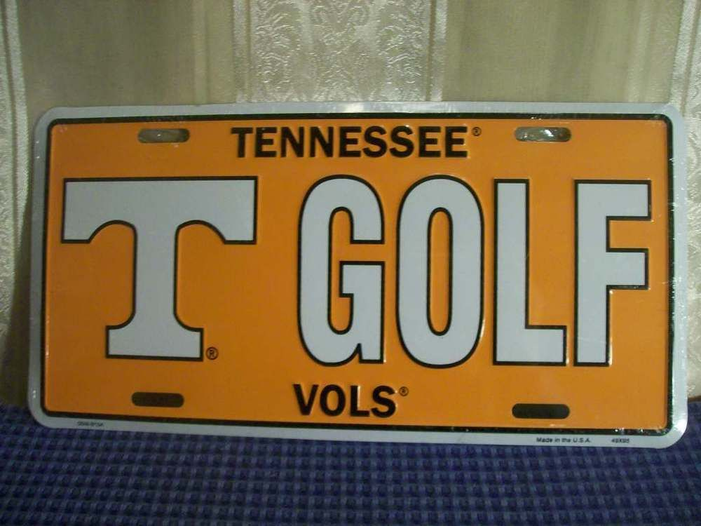 Tennessee Vols T Golf Metal License Plate Tag New ...