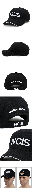 5ec323668cd NCIS Special Agents Cap Naval Criminal Investigative Service Embroidered  Adjustable Cotton Baseball Cap Hat  (Black )