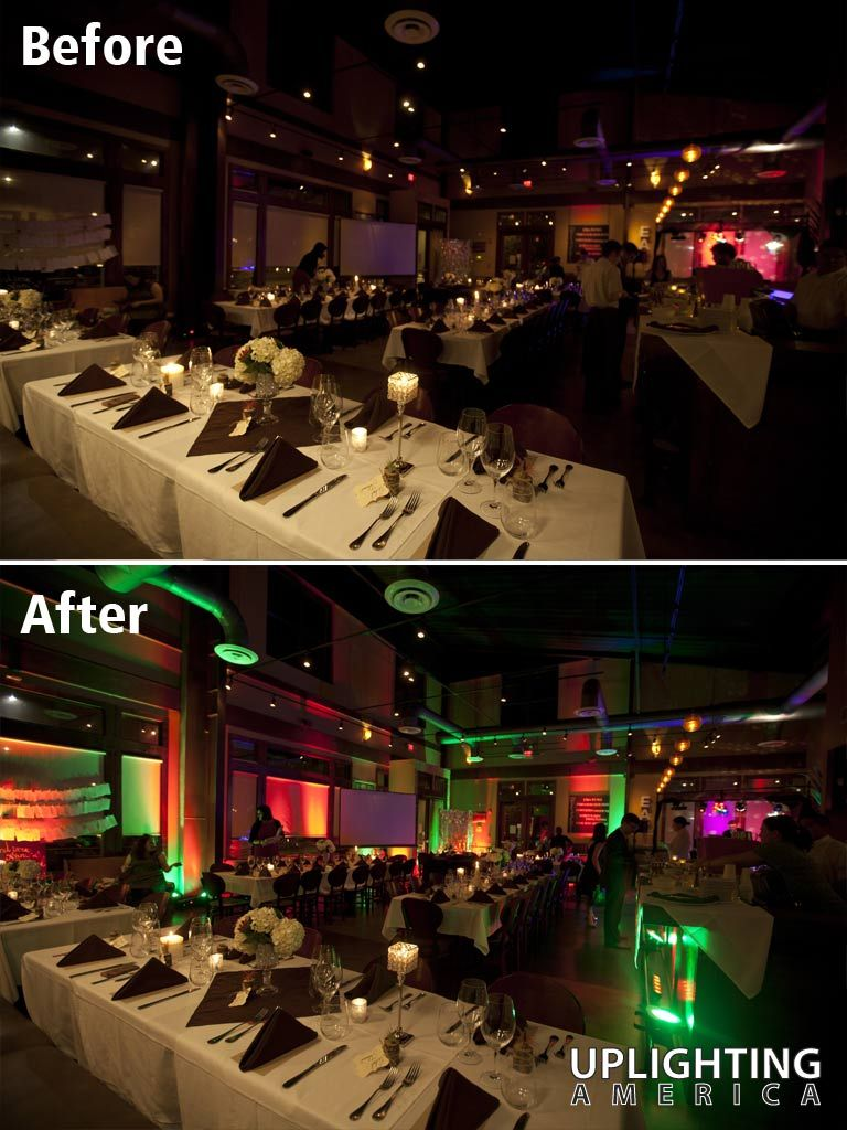 Uplighting Before And After Example From America Atlanta Area Decor Lighting Company Christmas Effect At The Shed Glenwood