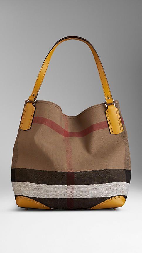 ea281087dea6 Yellow barley Medium Canvas Check Tote Bag - Image 1