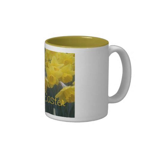 Happy Easter Yellow Daffodil mug