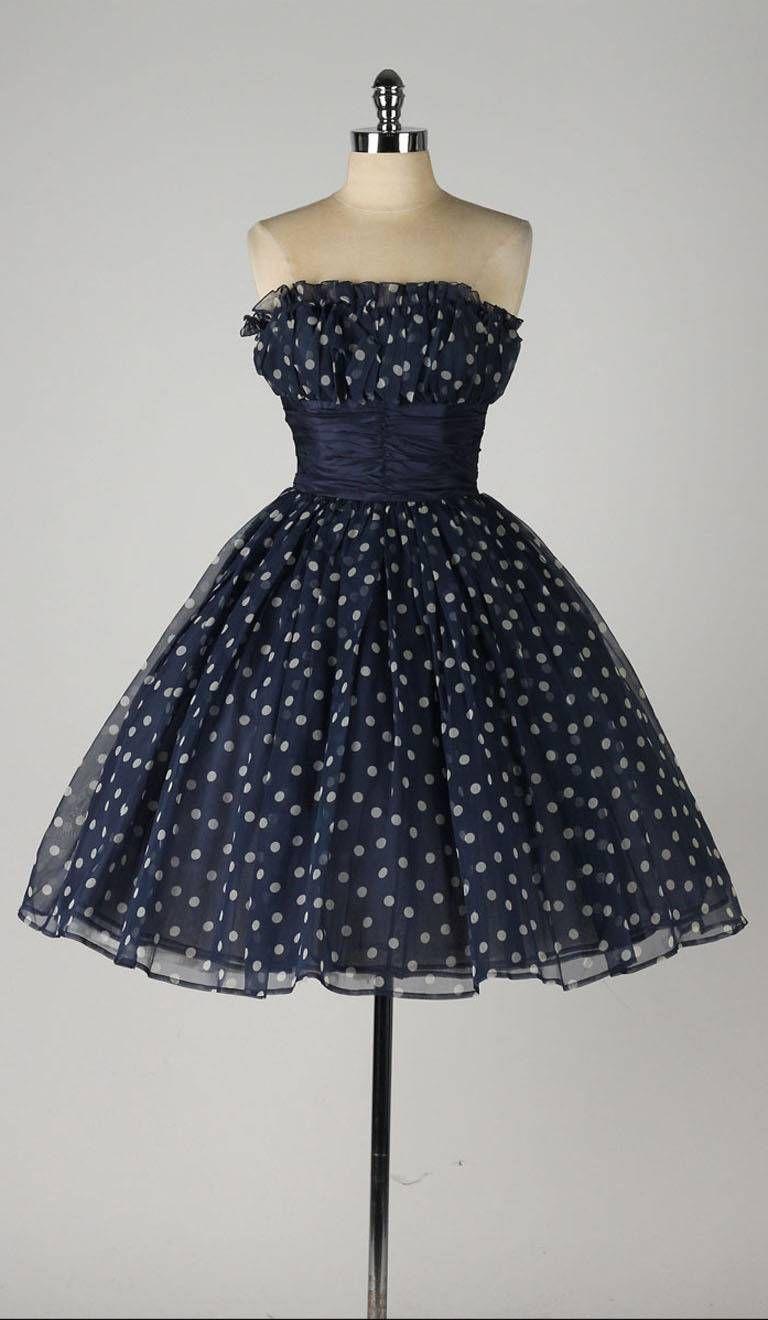 Vintage 1980's Guy Laroche Polka Dot Dress 1980s dresses