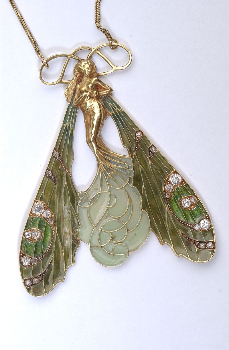 René Lalique - pendentif femme libellule