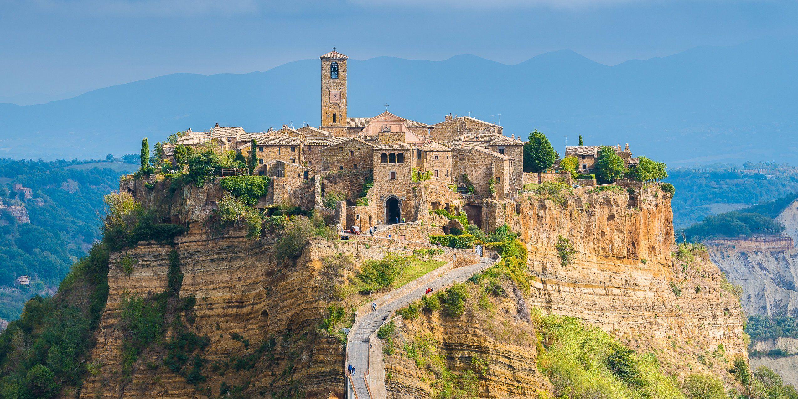Fotografia Italia Civita Di Bagnoregio Paesaggio Panorama