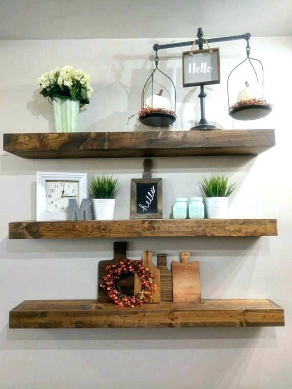 15 Impressive Rustic Wooden Shelf Designs So That Kitchen