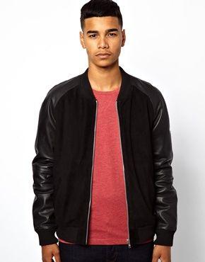 Coat leather sleeves asos – Modern fashion jacket photo blog