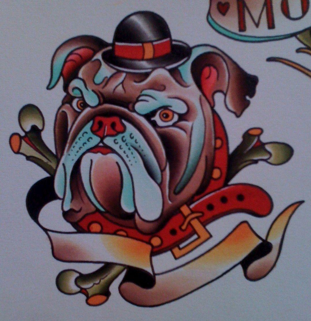 bulldog tattooed on head google zoeken tattoos pinterest tattoo tatting and hot tattoos. Black Bedroom Furniture Sets. Home Design Ideas