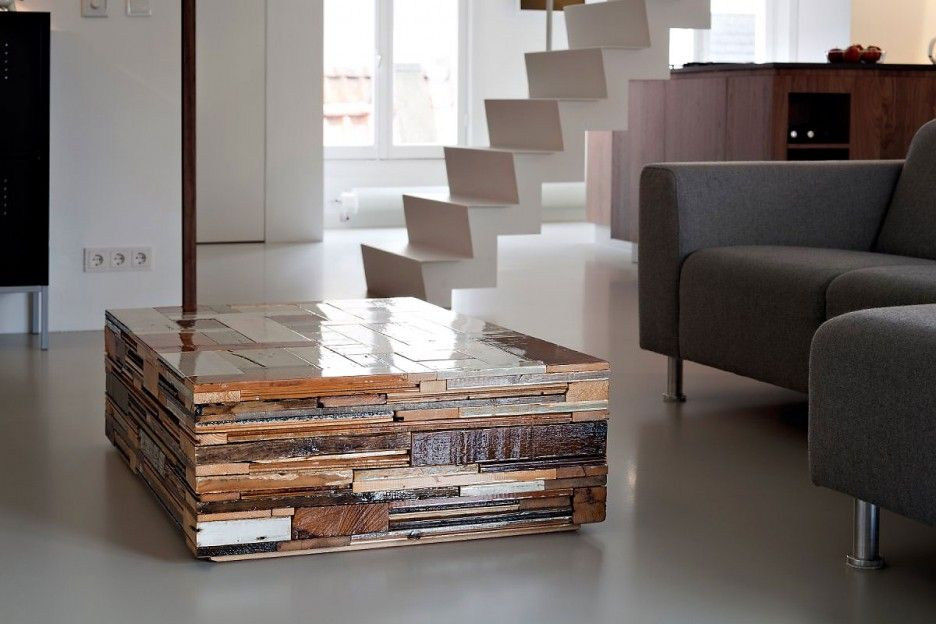 Stylish Wooden Coffee Table in Rectangular Shaped Design Combined ...