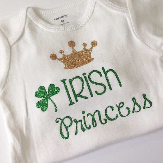 St Patrick S Day Shirt Bodysuit Green Glitter Baby By