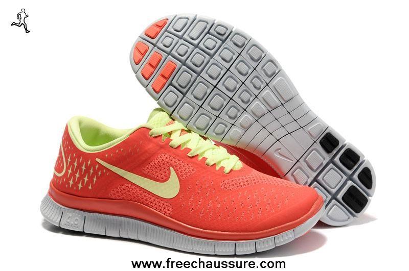 rouge jaune femmes 511527-800 nike free 4.0 v2 sports chaussures magasin