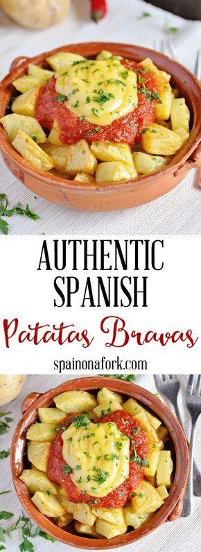 Authentic Spanish Patatas Bravas #spanishmeals