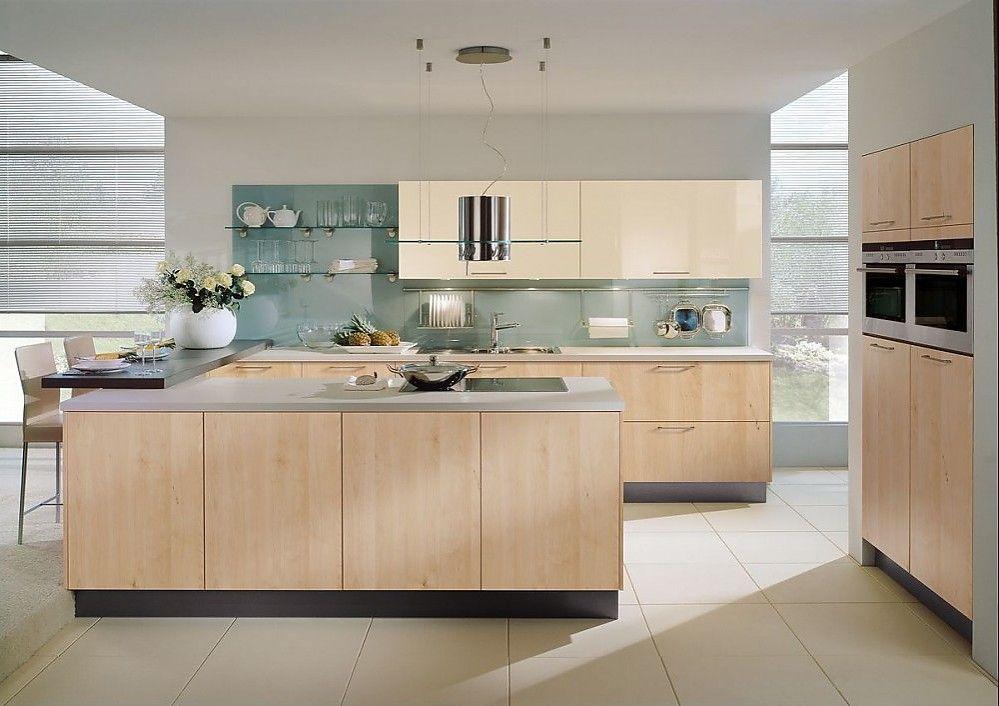 Modern gestaltete U-Küche mit zwei Theken Einbauküchen u form - küche in u form