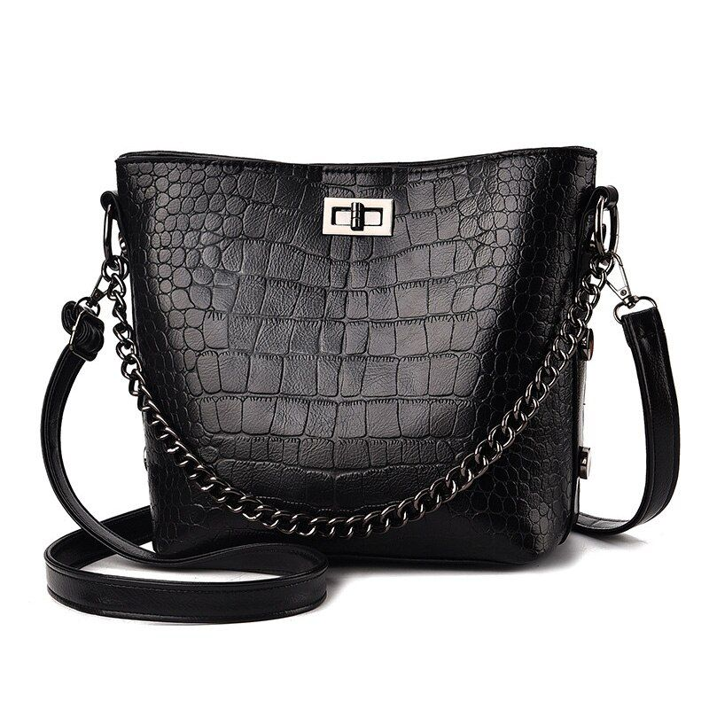 e5f8630c1 Designer Handbags Street Chains Small Shoulder Bags For Women PU Leather  Bucket Crossbody Bag Bolsos Mujer