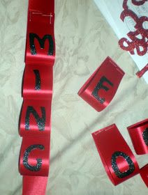 Sneak Peek - I'm almost done!!    These are instructions on how I made the looped ribbon with the letters that spell Homecoming.  You can ...