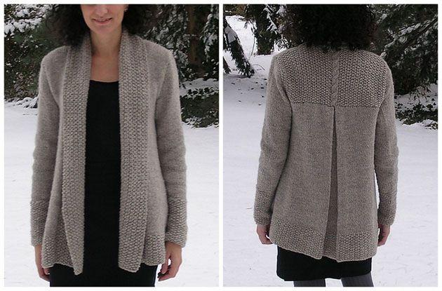 modele tricot gratuit veste col chale