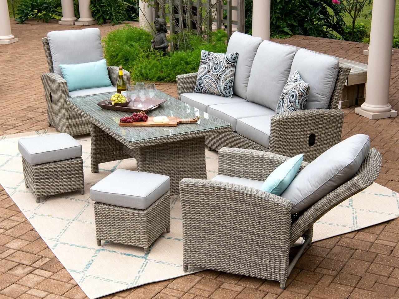 For A Stylish Solution To Your Outdoor Comfort Woes Look No Further Than Our Tuscany 6 Piece Set Find You In 2020 Pool Patio Furniture Outdoor Wicker Outdoor Comfort