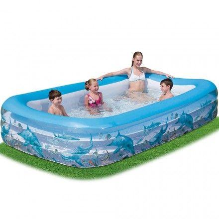 Piscina rectangular 305x183x56 piscinas verano jardin for Piscinas infantiles baratas