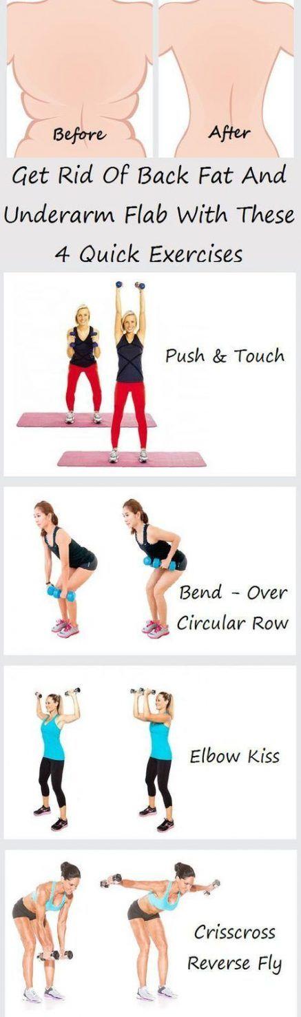 Fitness exercises for women back fat 63+ ideas #fitness #exercises