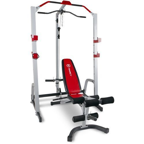 Marcy Impex MD 8851 Power Cage and Utility Bench 000 Fitness