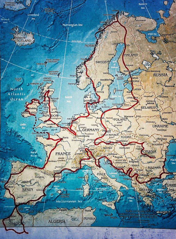 Couple Enlightens Son With A 4 Month Adventure To 41 European Countries On A Motorcycle Road Trip Europe Travel Around Europe European Road Trip