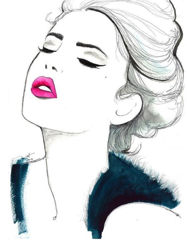 dibujo de cara mujer
