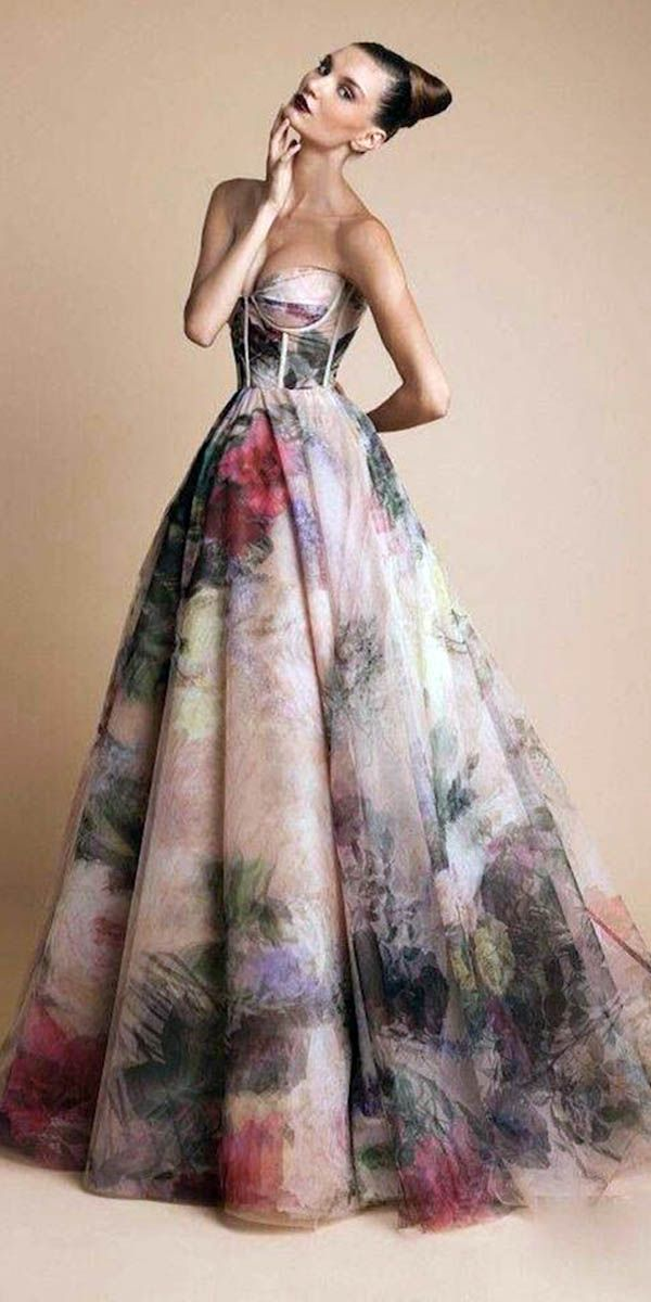 30 floral wedding dresses that are incredibly pretty for Floral dresses for weddings