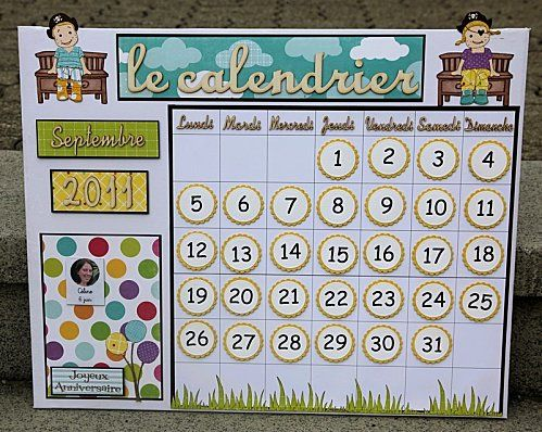Calendrier Pour La Classe.Calendrier Perpetuel Pour La Classe Calendrier De Classe