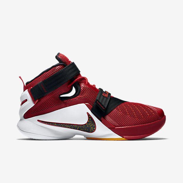 Nike Herren Lebron Soldier IX Basketballschuhe, Rot / Schwarz / Weiß  (Universität Rot / Schwarz-Tm Rd-Weiß), 44 EU - Nike schuhe (*Partner-Link)