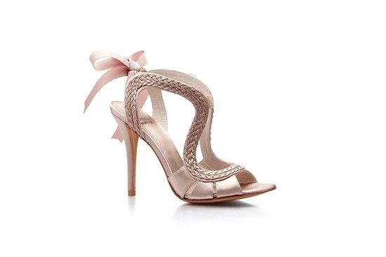 Adorable high-fashion bridal heels