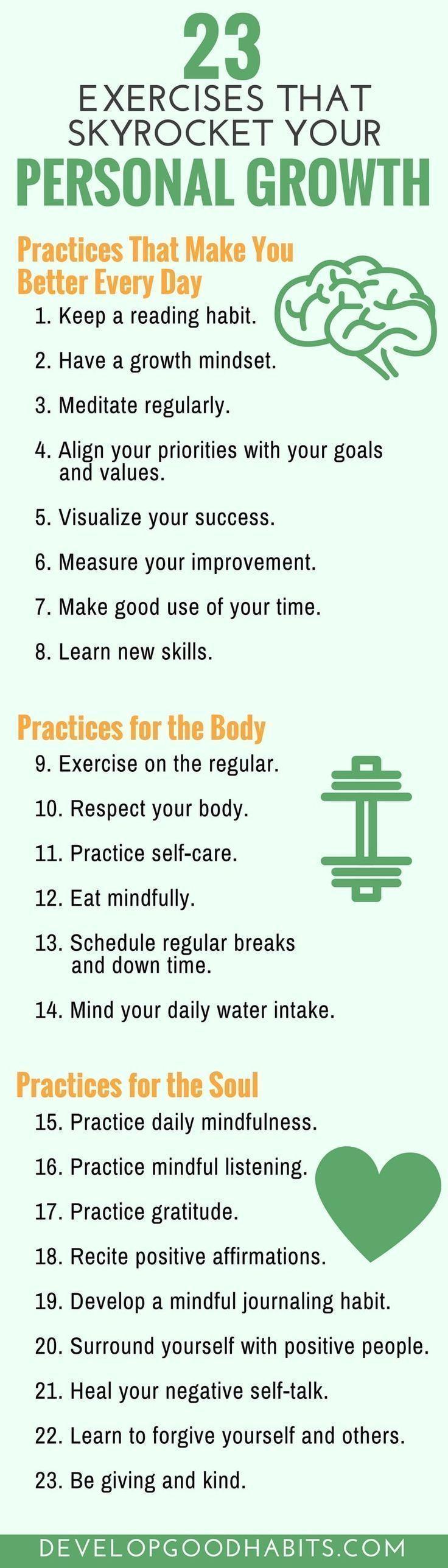 23 Self Improvement Exercises to Transform Your Life