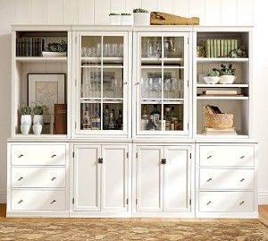 I Heart Pb Logan White Wall Unit Dining Room Storage