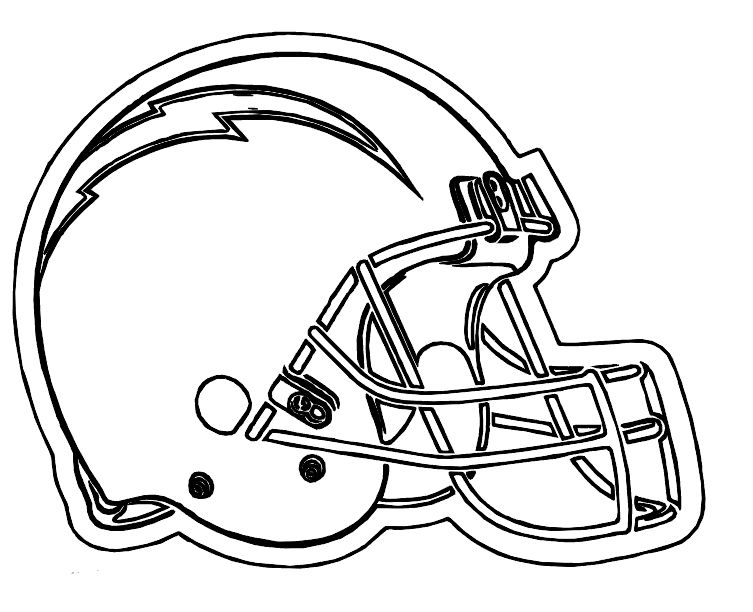 San Diego Chargers Helmet Coloring Pages Nfl Football Helmets Sports Coloring Pages Football Helmets