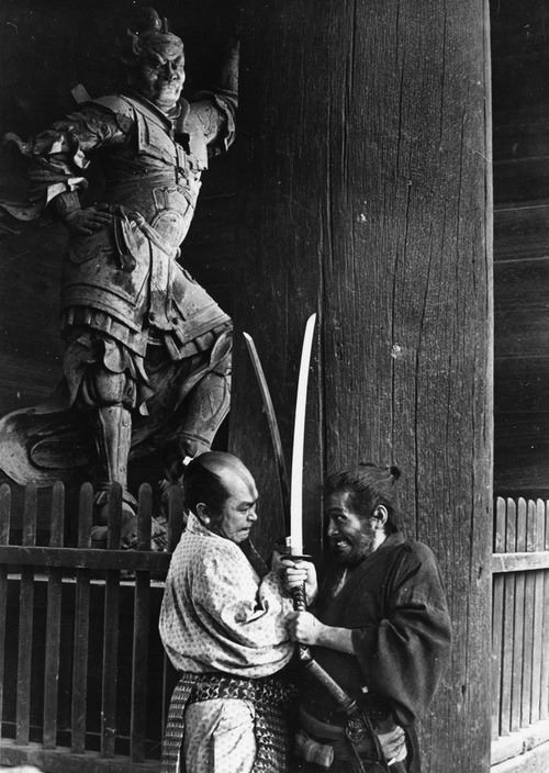 Toshiro Mifune ~ not from the movie Rashoman as this blog sugested. I thought the movie was Yojimbo but not sure.