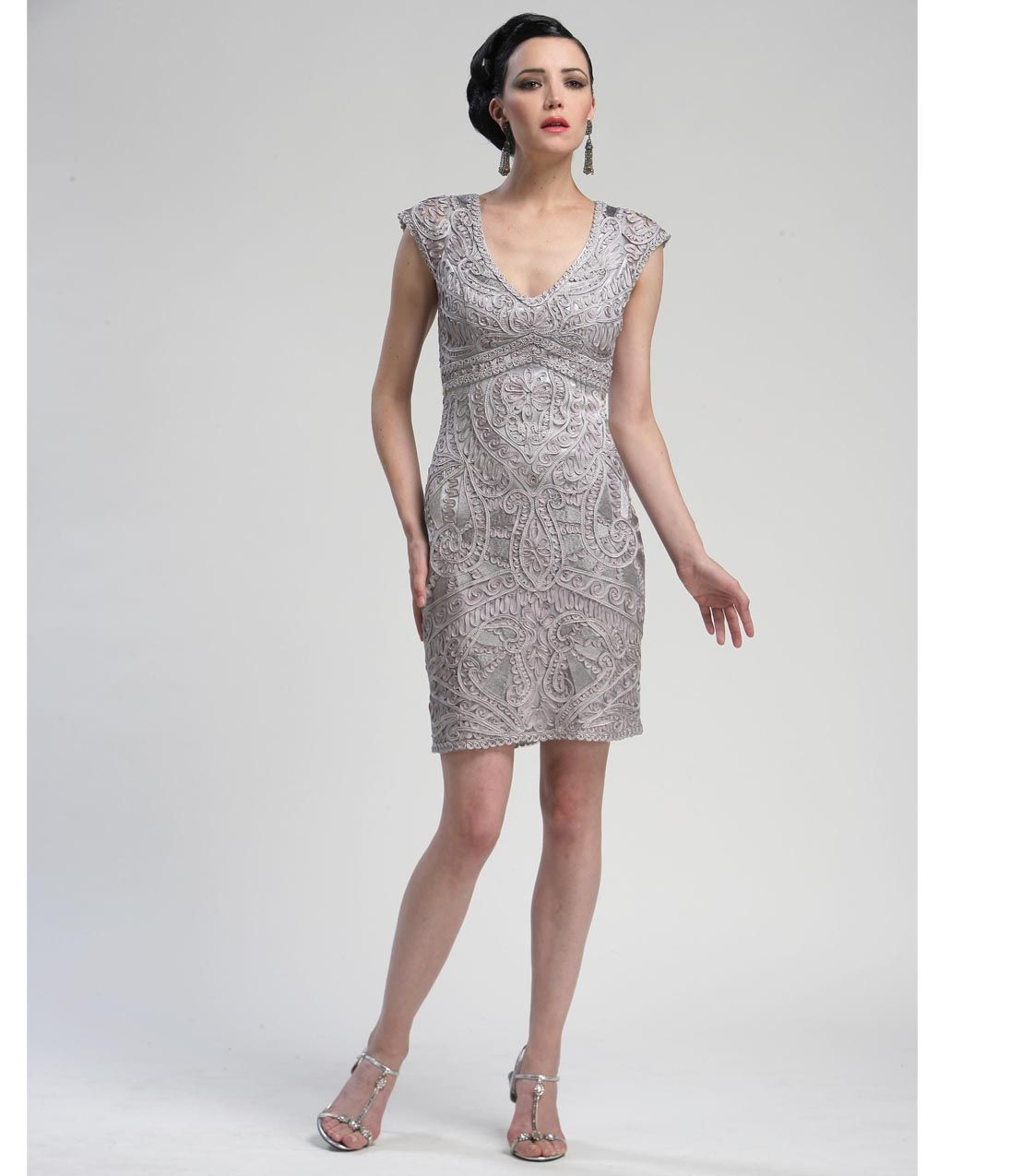 Unique Vintage Unique Vintage Cap And Silver Cocktail Dress