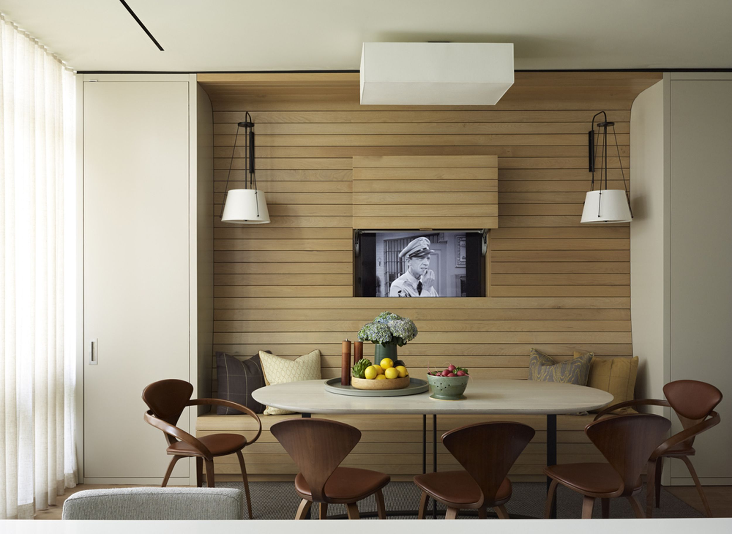 Designing With Your Tv A Media Console Roundup Emily Henderson Living Room Tv Apartment Interior Living Room Designs