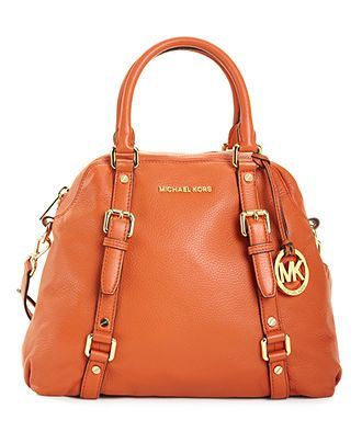 b07e2f8da58d Michael Kors Bedford Bowling Satchel - I fancy orange melon coral colors in  the spring.