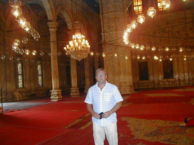 El Cairo. Interior de la Mezquita de Alabastro