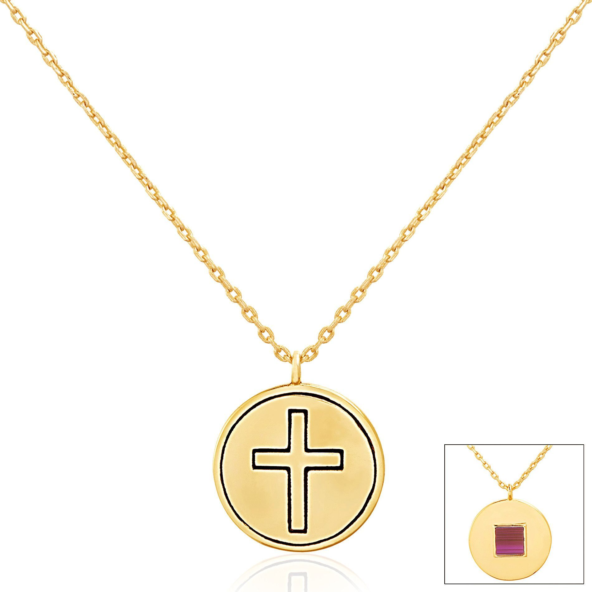 Circle Cross Pendant Necklace