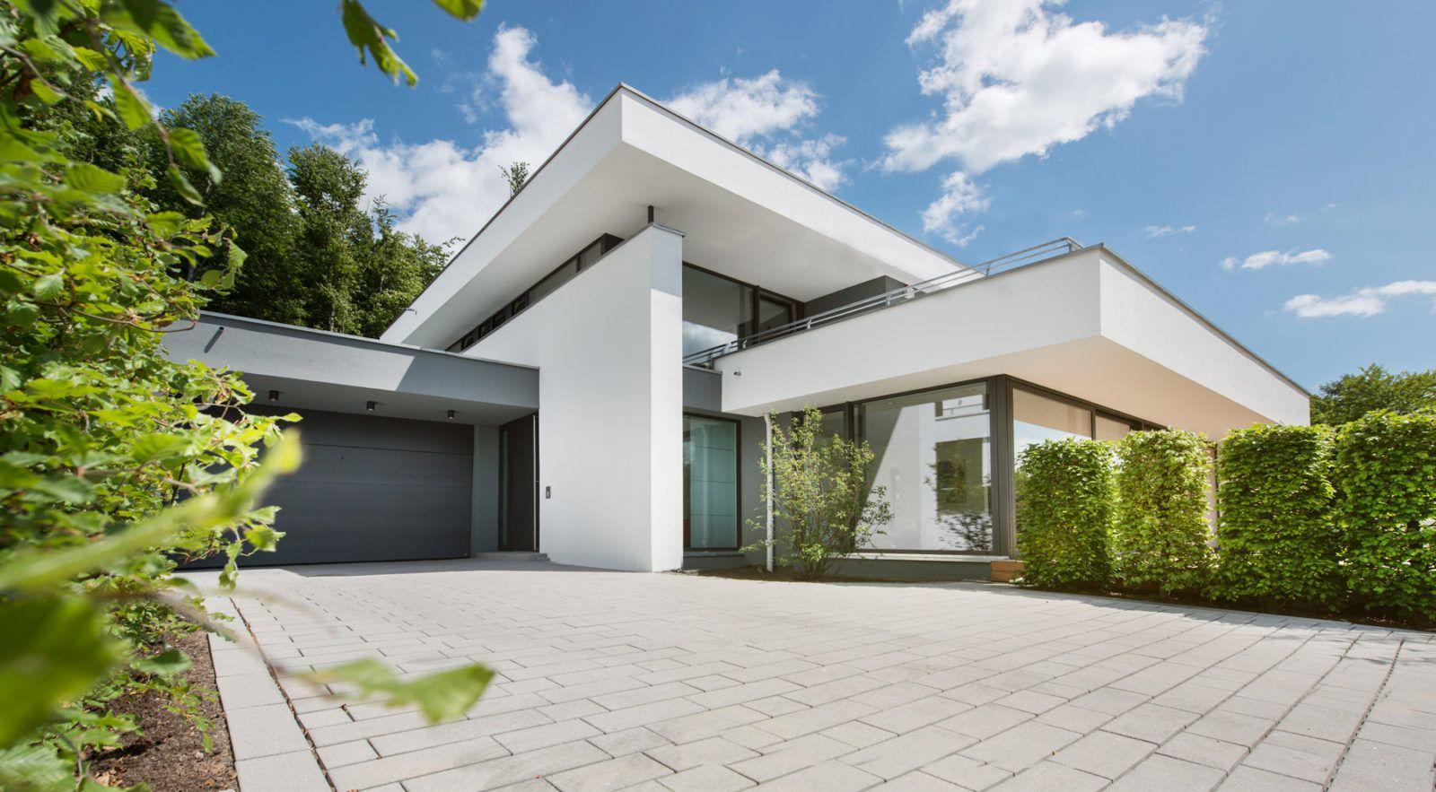 Modernes haus im bauhausstil massivhaus wohnhaus ideen pinterest - Bauhausstil architektur ...