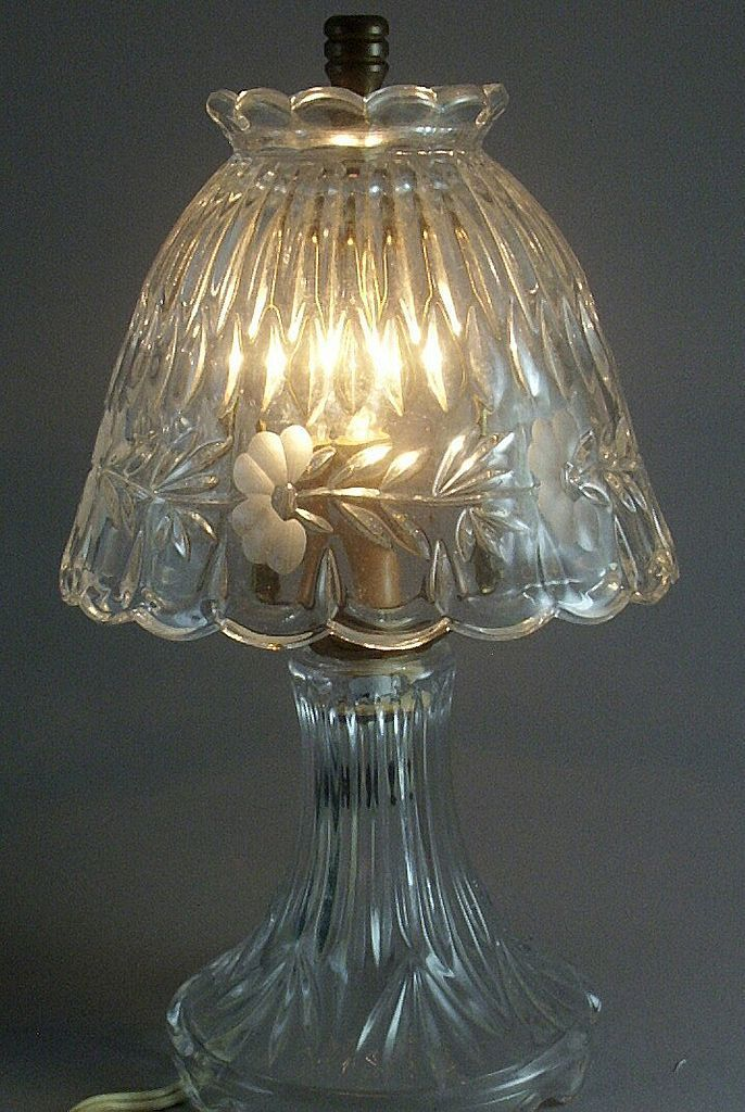 Princess House Heritage Crystal Romance Lamp Made West Germany