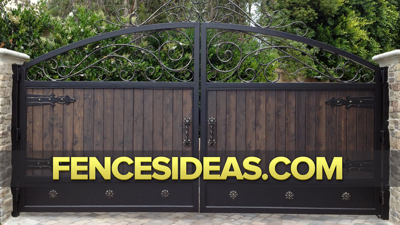 Fence Gate Design Ideas gate design in semi transparent finish love the shape of this gate as well fence designs styles Wrought Iron Fences Iron Gate Design Ideas