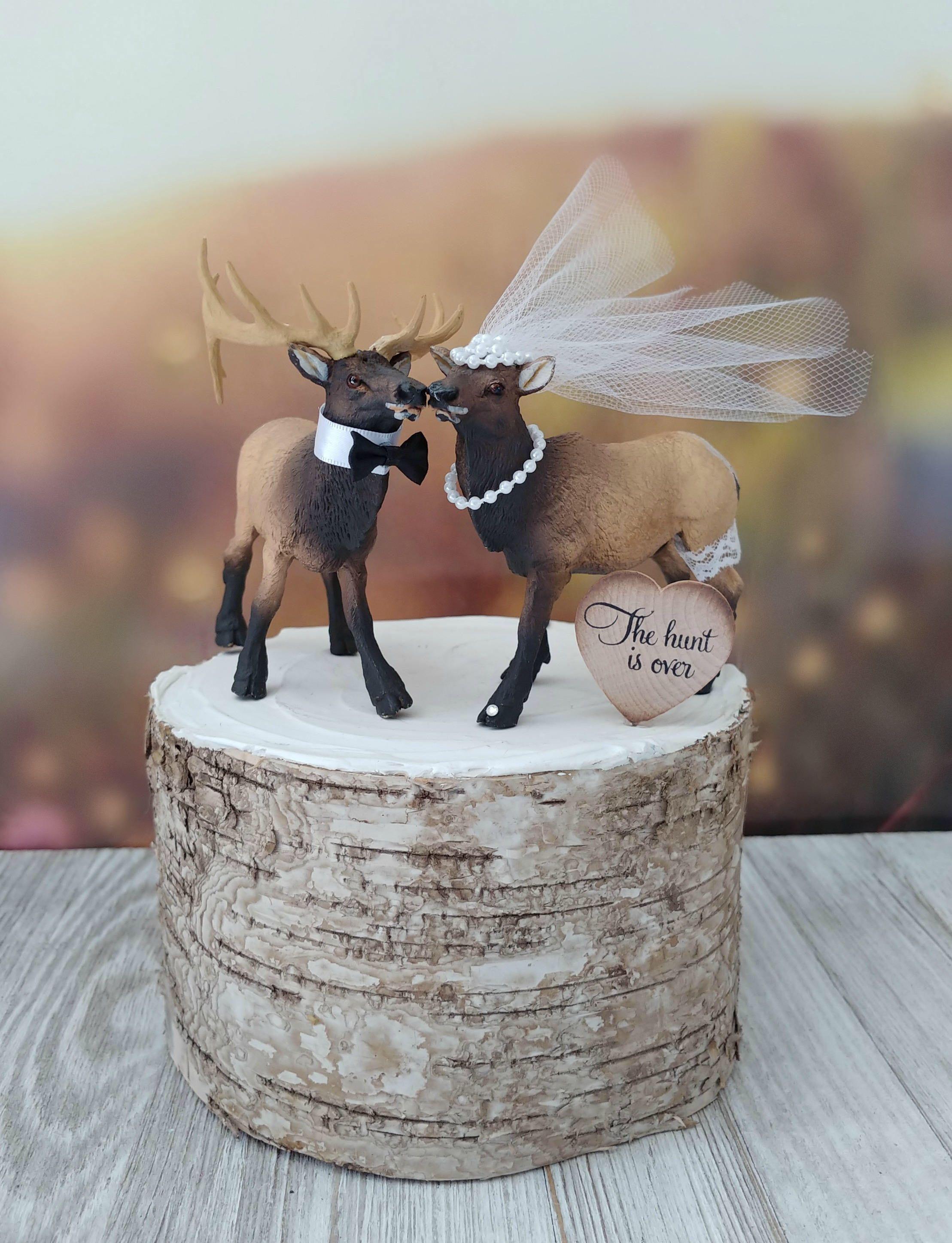 Elkelk hunterwedding cake topperhunting etsy hunter