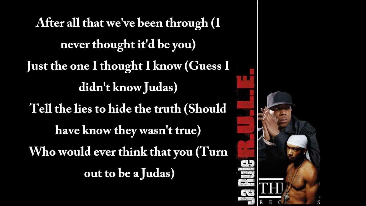 Ja Rule Judas Dmx And Ashanti Diss Lyrics With Images Ja