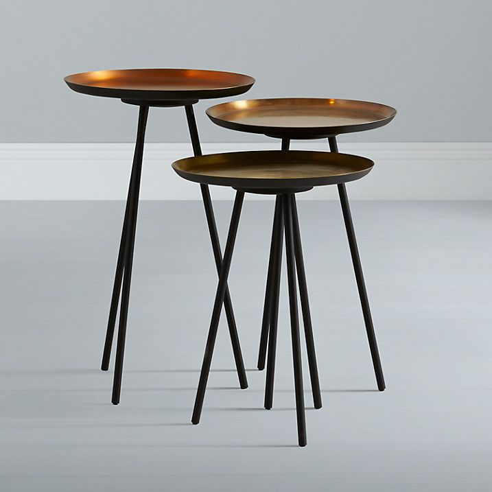 Content by terence conran accents round side tables set - Metal side tables for living room ...