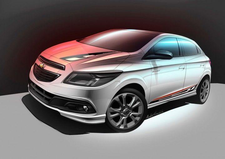 Chevrolet Onix Effect Concept Sketch Render Onix Carros