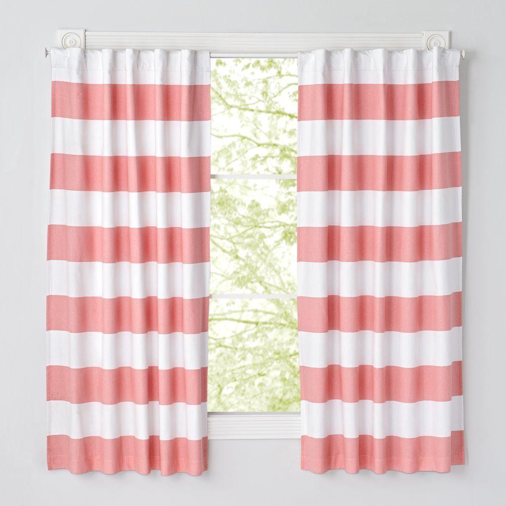 2 window bedroom ideas  set of  cabana stripe pink