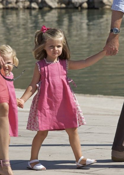 Princess Leonor of Spain poses for photographers during the summer holidays on August 5, 2009 in Palma de Mallorca, Spain.