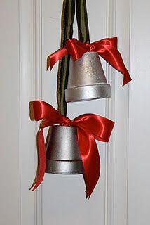 terra cotta pot christmas crafts first terra cotta christmas bells - Large Plastic Christmas Bell Decorations